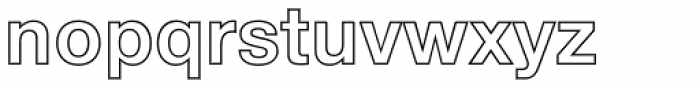 Helvetica Neue LT Std 75 Bold Outline Font LOWERCASE