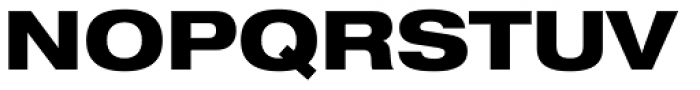 Helvetica Neue LT Std 83 Heavy Extended Font UPPERCASE