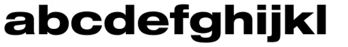 Helvetica Neue LT Std 83 Heavy Extended Font LOWERCASE