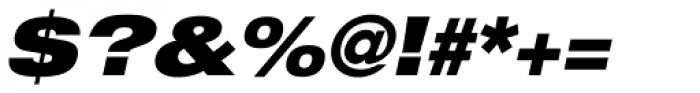 Helvetica Neue LT Std 93 Black Extended Oblique Font OTHER CHARS