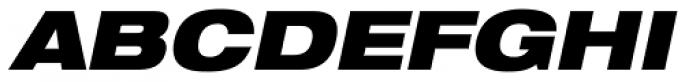 Helvetica Neue LT Std 93 Black Extended Oblique Font UPPERCASE