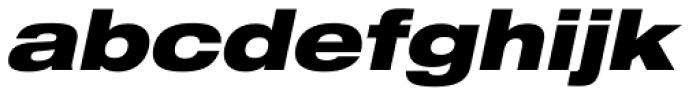 Helvetica Neue LT Std 93 Black Extended Oblique Font LOWERCASE