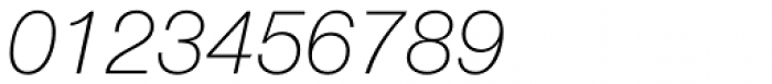 Helvetica Neue Paneuropean W1G 36 Thin Italic Font OTHER CHARS