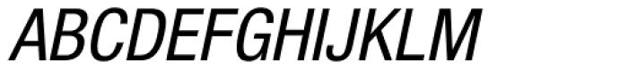 Helvetica Neue Paneuropean W1G 57 Cond Oblique Font UPPERCASE