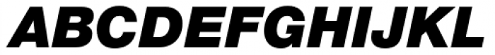 Helvetica Neue Paneuropean W1G 96 Black Italic Font UPPERCASE
