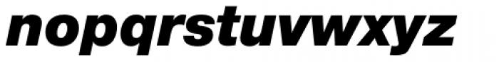 Helvetica Neue Paneuropean W1G 96 Black Italic Font LOWERCASE