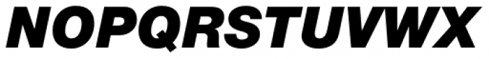 Helvetica Neue Pro Black Italic Font UPPERCASE