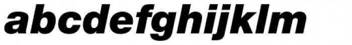 Helvetica Neue Pro Black Italic Font LOWERCASE
