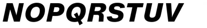 Helvetica Now Micro ExtraBold Italic Font UPPERCASE