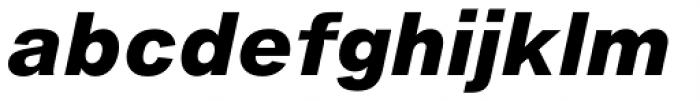 Helvetica Now Micro ExtraBold Italic Font LOWERCASE