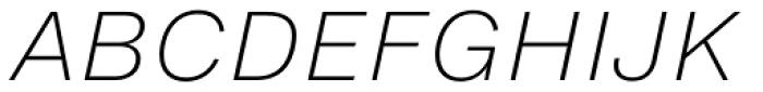 Helvetica Now Micro ExtraLight Italic Font UPPERCASE