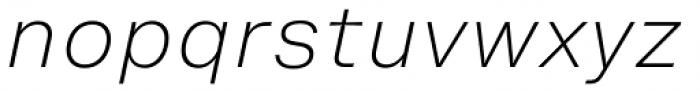 Helvetica Now Micro ExtraLight Italic Font LOWERCASE