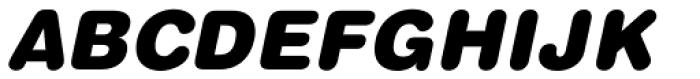 Helvetica Pro Rounded Black Oblique Font UPPERCASE