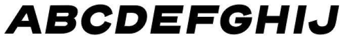 Henderson Sans Basic Black Italic Font UPPERCASE