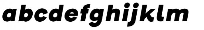 Henderson Sans Basic Black Italic Font LOWERCASE