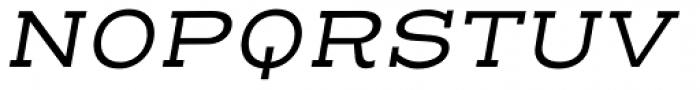 Henderson Slab Basic Regular Italic Font UPPERCASE