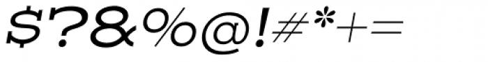Henderson Slab Regular Italic Font OTHER CHARS