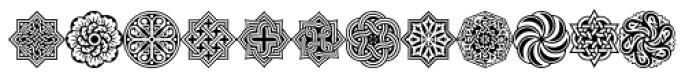 Henman Pictograms Three Font UPPERCASE