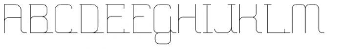 Hennepin ExtraLight Font UPPERCASE
