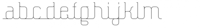 Hennepin ExtraLight Font LOWERCASE