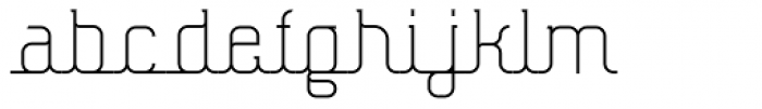 Hennepin Font LOWERCASE