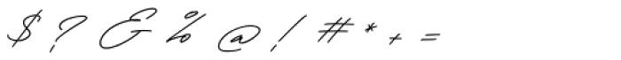 Henretta Signature Regular Font OTHER CHARS