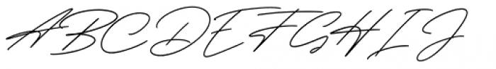 Henretta Signature Regular Font UPPERCASE
