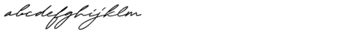 Henretta Signature Regular Font LOWERCASE