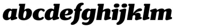 Henriette Black Italic Font LOWERCASE