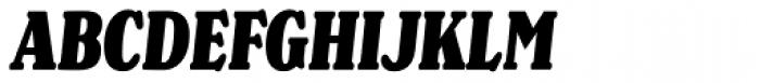 Henriette Compressed Black Italic Font UPPERCASE