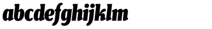 Henriette Compressed Black Italic Font LOWERCASE
