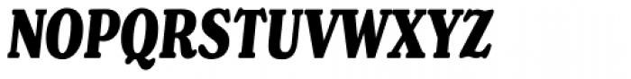 Henriette Compressed Heavy Italic Font UPPERCASE