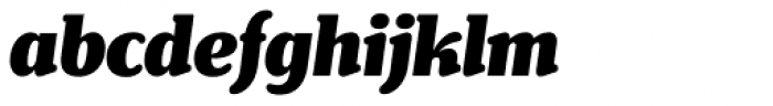 Henriette Condensed Black Italic Font LOWERCASE