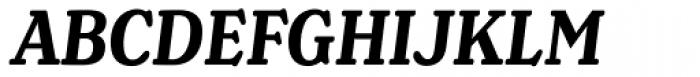 Henriette Condensed Bold Italic Font UPPERCASE