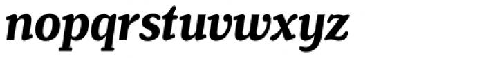 Henriette Condensed Bold Italic Font LOWERCASE