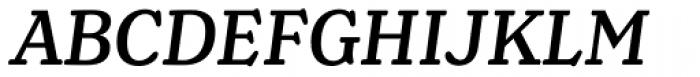 Henriette Medium Italic Font UPPERCASE