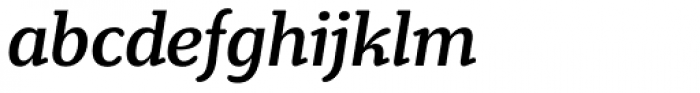 Henriette Medium Italic Font LOWERCASE
