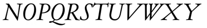Henry Italic OSF Font UPPERCASE