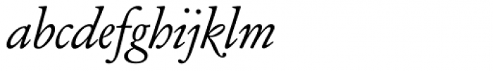 Henry Italic OSF Font LOWERCASE