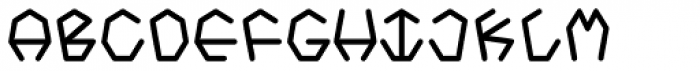 Heptagroan Mono Bold Font UPPERCASE