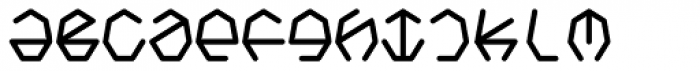 Heptagroan Mono Bold Font LOWERCASE