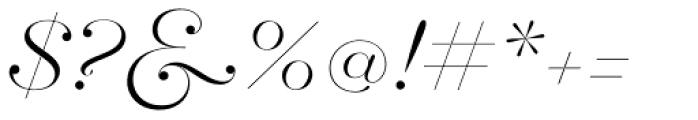 Hera Big ExtraLight Italic Font OTHER CHARS