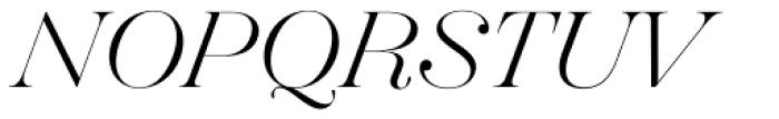 Hera Big ExtraLight Italic Font UPPERCASE