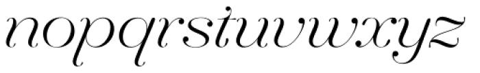 Hera Big ExtraLight Italic Font LOWERCASE