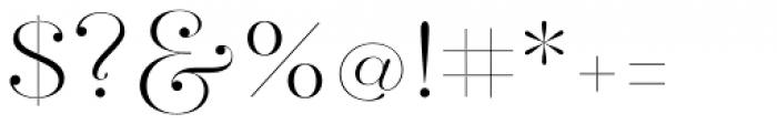 Hera Big ExtraLight Font OTHER CHARS