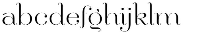 Hera Big ExtraLight Font LOWERCASE