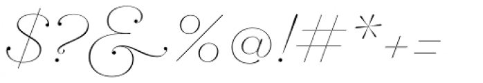 Hera Big ExtraThin Italic Font OTHER CHARS