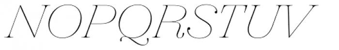 Hera Big ExtraThin Italic Font UPPERCASE
