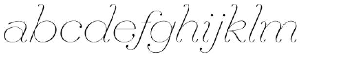 Hera Big ExtraThin Italic Font LOWERCASE