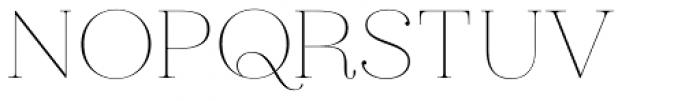 Hera Big ExtraThin Font UPPERCASE